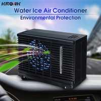 Aire acondicionado evaporativo de hielo de agua para coche, Mini refrigerador de coche, portátil de 2 velocidades, 12 V, 35 W, 12 V para coches negro