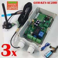 Entrega Express GSM control remoto y controlador de acceso para puerta de garaje deslizante abridor de puerta