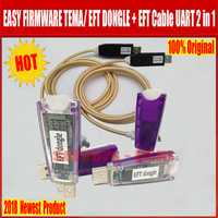 100% más Nuevo 2018 Original EASY FIRMWARE TEMA/EFT DONGLE + EFT Cable UART 2 en 1 Envío Gratis