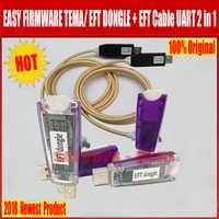 2018 date 100% Original facile FIRMWARE TEMA/EFT DONGLE + EFT câble UART 2 en 1 livraison gratuite