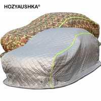 Hiver épais coton couette couette voiture bâche de voiture bâche de voiture neige antigel froid hiver chaud nord-est