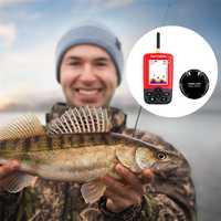 JOSHNESE buscador inteligente de peces con Sensor de Sonar inalámbrico eco Sounder para pesca en el mar del lago dispositivo submarino más profundo XNC