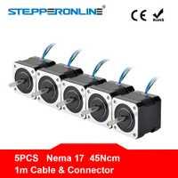 ¡Envío gratis! 5 unids 4 Lead Nema 17 Motor paso a paso 42 BYGH 40mm 1 m Cable 45Ncm (64oz en) 2A 17hs4401 de Motor paso a paso para 3D impresora