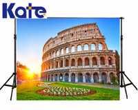 Familia Fondo Roma Coliseo telón de fondo Baby Building Sunshine flor FONDO PARA FOTOS