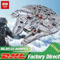 DHL educativos 05132 estrella de las guerras de los 75192 nuevos Millennuium halcón destructor estelar conjunto de bloques de construcción ladrillos chico juguetes de Navidad regalo