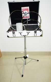 Estuche y MAK Mesa Bases (plata, 45*35*10.5 cm) pasear mesa para mago Trucos de magia etapa accesorios gimmick Prop