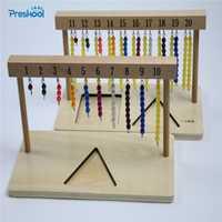 Bebé juguete Montessori 1-20 Cuentas colgante Marcos madera para Educación Infantil Educación Preescolar niños brinquedos Juguetes