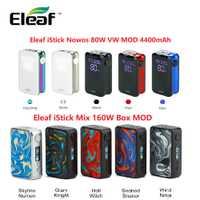 100% Original de 160W Eleaf iStick mezcla caja MOD No batería y iStick Nowos 80W VW MOD 4400mAh cigarrillo electrónico vaporizador Vape vs Drag 2/Shogun
