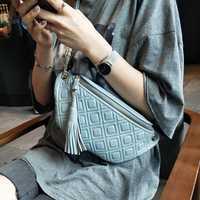 BRIGGS fanny pack pour femmes taille sac en cuir véritable ceinture sac à main mode argent ceinture dames mode sac à bandoulière chaîne femme