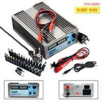 CPS 3205II DC alimentation numérique réglable Mini laboratoire alimentation 32V 5A précision 0.01V 0.001A dc alimentation 30 fiches