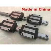 25mm 2 piezas carril lineal HGR25 750 800 850 900 950 1000 1050mm cnc piezas y 4 piezas HGW25CA guías lineales bloquean HGW25CC