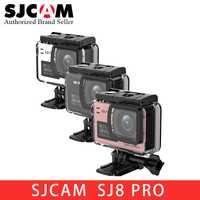 En Stock nuevo SJCAM SJ8 serie SJ8 aire y SJ8 Plus y SJ8 Pro 1290 P 4 K Cámara de Acción WIFI Control remoto impermeable deportes DV