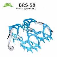 BRS-S3 14 dientes Ultra-luz garras crampones zapatos antideslizantes zapatos de cubierta de aluminio agarre hielo al aire libre de esquí hielo nieve senderismo escalada