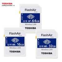 TOSHIBA FlashAir W-04 tarjeta de memoria LAN inalámbrica 64 GB 32 GB 16 GB WI-FI SD tarjeta U3 UHS clase 3 Tarjeta de memoria SD inalámbrica