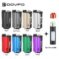 ¡Regalo gratis! Original 200 W DOVPO parte superior doble relleno TC Squonk MOD con 10 ml Squonk botella cigarrillo electrónico Mod VS arrastrar 2