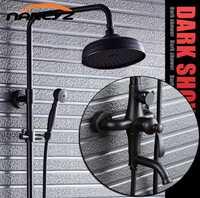 Negro bronce ducha set retro americana Pared de ducha XT310