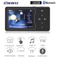 HIFI MP3 jugador con Bluetooth4.0 botón táctil altavoz incorporado 16 GB 2,4 pulgadas pantalla TFT sin pérdidas MP3 reproductor de música con FM