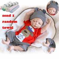 56 cm NPK muñeca Ángel durmiente todo de silicona muñecas del bebé muñeca suave simular Real bebé juguetes para los niños los niños