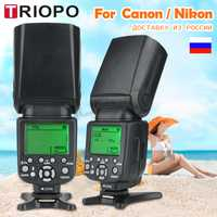 TRIOPO TR-988 Flash professionnel Speedlite TTL caméra Flash avec synchronisation haute vitesse pour Canon et Nikon appareil photo reflex numérique Top vente