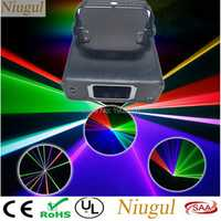 Niugul Mini RGB láser LED iluminación de escenario para el hogar efecto de haz/DMX Proyector láser luces de fiesta de discoteca/iluminación de escenario DJ colorida