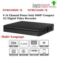 Marca DVR XVR5108HS-X XVR5116HS-X 8ch 16ch hasta 6MP H.265 +/h.265grabadora de vídeo Digital de búsqueda inteligente envío gratuito DHL