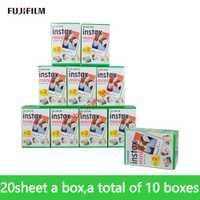 Original Fujifilm instax mini 9 película 200 hojas Fuji instsnt foto pegatinas para mini 8 7 s 25 50 S 90 cámara instantánea papel