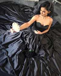 Ruso País negro vestido de novia gótico con collar cariño vestido de princesa victoriana árabe vestidos de novia 2019 nuevo