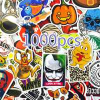 1000 piezas Mix estilo pegatinas refrigerador Skateboard juguetes Cool JDM Doodle calcomanías decoración equipaje Car Styling bicicleta portátil DIY etiqueta
