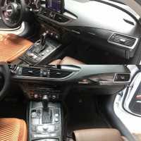 Pour Audi A7 2011-2018 panneau de commande Central intérieur poignée de porte 3D/5D en Fiber de carbone autocollants accessoires de style de voiture