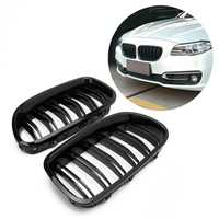 Entrega libre brillo negro riñón parrilla Racing Grille doble línea para BMW F10 F11 F18 5 serie M5