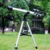 1 Set calidad F60700 refracción 525 X Zoom telescopio astronómico (700/60mm) telescopio Monocular para observación astronómica