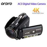 ORDRO actualizado AC3 4 K caliente de cámara Digital WIFI HDMI 24MP infrarrojo de visión en noche y con Video grabación Cámara 3