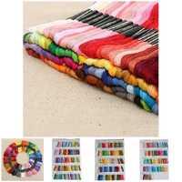 Venta caliente 430 colores poliéster bordado Cruz hilo patrón Kit bordado seda de coser de seda