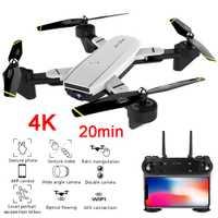 Mejor 4K Drone con cámara 1080P 50x Zoom profesional FPV Wifi RC Drones altura mantener Auto Retorno Dron Quadcopter RC helicóptero