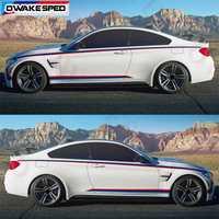 Rayures tricolores PERFORMANCE voiture taille lignes autocollant côté porte décalcomanie pour BMW M Sport F20 F30 F10 F23 F45 F34 F80 E90 E82 F32 F82
