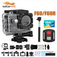 GOLDFOX F60/F60R 4 K 30FPS deporte acción Cámara 170D 1080 P 60FPS WIFI Mini cámara 30 M a cámara de vídeo impermeable para casco de bicicleta Pro