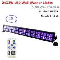24X3 W luces de discoteca UV negro violeta luces Dj luces Par lámpara LED para boda fiesta, iluminación láser etapa proyector luces