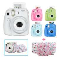 Nueva 5 colores Fujifilm Instax Mini 9 instantánea cámara de cine Kit Set con estuche PU correa de hombro, uso Instax Mini película
