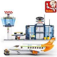 Parque infantil B0367 678 unids ciudad serie Aeropuerto Internacional modelo bloques de construcción ilumine juguetes para los niños Compatible Legoe