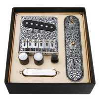 1 ensemble de pont de plaque de commande précâblé chargé pour accessoires de guitare Telecaster