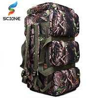 Hot Top qualité 90L grande capacité en plein air militaire voyage sacs oxford/toile sac à dos camouflage sac polochon sac à dos étanche