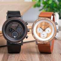 BOBO OISEAU montres homme Top Marque De Luxe relojes hombre montre en bois Mâle Spectacle date Cadeau saat erkek Montres