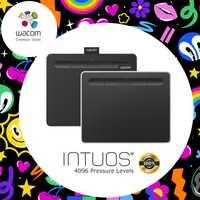 Wacom Intuos CTL-6100 gráfico Digital tabletas de dibujo de la tableta 4096 niveles de presión de tamaño mediano con Bonus Software + Paquete de regalo