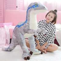 130 cm grande dinosaurio de dibujos animados juguetes de peluche animales de peluche de felpa enojado Tyrannosaurus Rex muñeca juguetes para niños regalos de cumpleaños