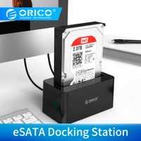 ORICO HDD Cas eSATA HDD 5 Gbps Super Speed USB 3.0 à SATA et eSATA Disque Dur Station D'accueil pour 2.5 ''/3.5
