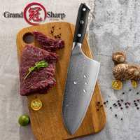 7,2 pulgadas cuchillo VG10 japonés de acero de Damasco cuchillos de cocina 67 capas carnicero herramientas Chef japonés cuchillo de Damasco