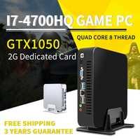 MSECORE Quad-Core i7 4700HQ GTX1050 Dedicted TARJETA DE Mini PC Windows 10 computadora de escritorio barebone juego pc Nettop HTPC WiFi
