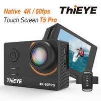 ThiEYE T5 Edge con Live Stream Cam Real Ultra HD 4 K Cámara de Acción con estabilizador giroscópico a prueba de agua cámara del deporte Cámara de