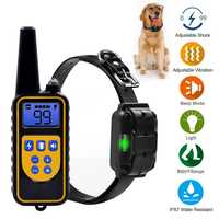 4 modo del entrenamiento del perro, simple/doble Anti Barking Control remoto impermeable choque eléctrico Bark Deterrents suministros