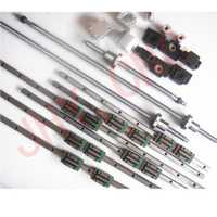 Carril lineal perfil guía + ballscrews tipo SFU + 3 Unidades BK/BF12 + 3 ballut + 3 acoplador